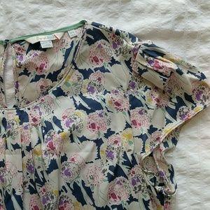 Boden Cap Sleeve Silk Top - 12